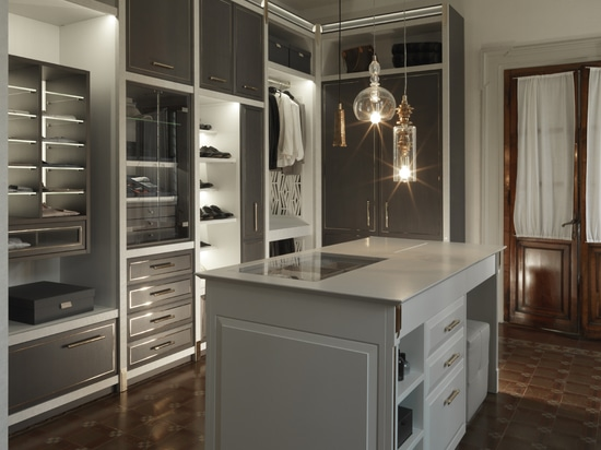 A functional, designer model with a strong contemporary accent: Martini presents the Essenza wardrobe