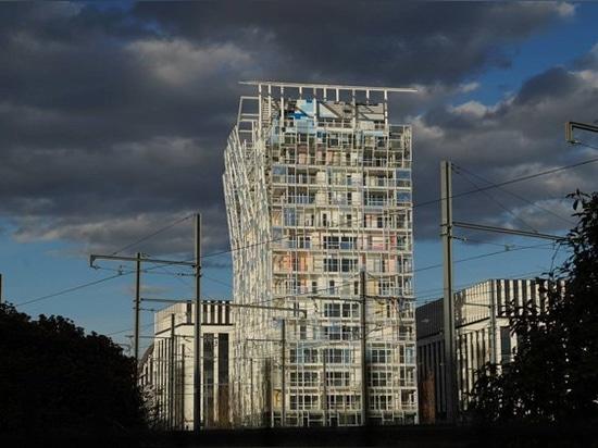 jean nouvel se suma al distrito de confluencia de lyon con el edificio de viviendas `ycone'