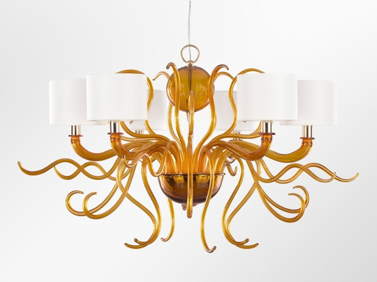Lámpara de cristal de Murano Tourbillon