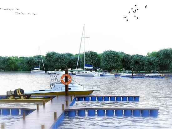 Un complejo náutico en el río Wouri en Douala