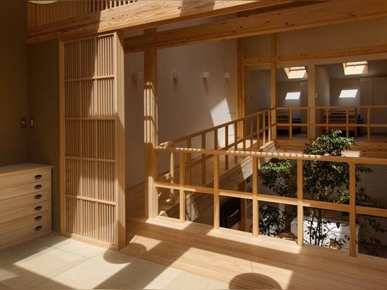 La Casa Kyoto tiene un árbol creciendo en ella