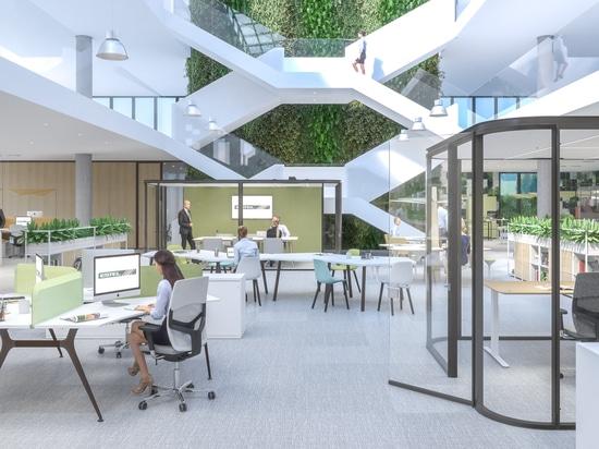 Entorno de oficina inteligente italiano