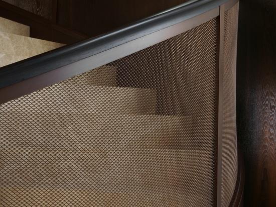 Elegante y redondo diseño de malla espiralia