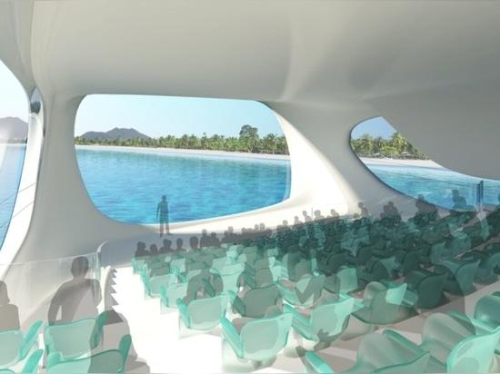 Centro de investigación marina inspirado en las olas de los tsunamis