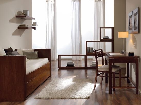 Ambiente dormitorio juvenil elegante