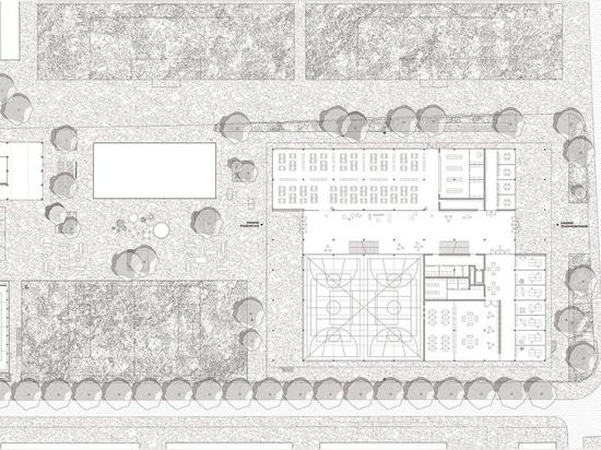 """Topotek 1 gana el concurso para diseñar una ampliación de la """"Escuela de Champagne"""" en Biel, Suiza"""