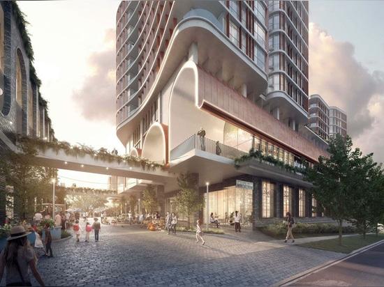 "La ""familia escultural de torres"" propuesta para la zona suburbana de Brisbane"