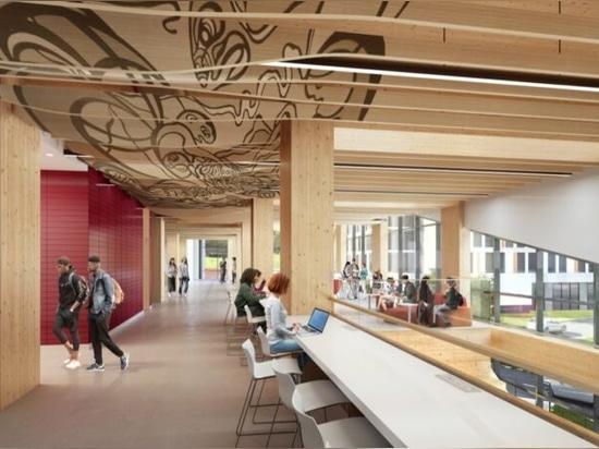 El primer edificio universitario de madera de carbono cero en Toronto es el primer edificio universitario de madera de carbono neto del Canadá