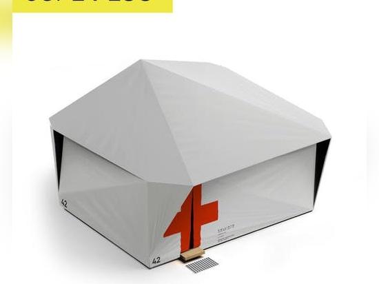 Jupe crea unidades de refugio desplegables de respuesta rápida para trabajadores de la salud y la recuperación de pacientes