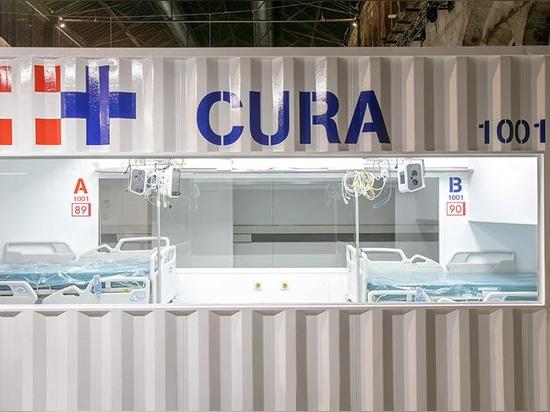 Las UCI de contenedores de transporte del CURA se abren en Turín para combatir el COVID-19