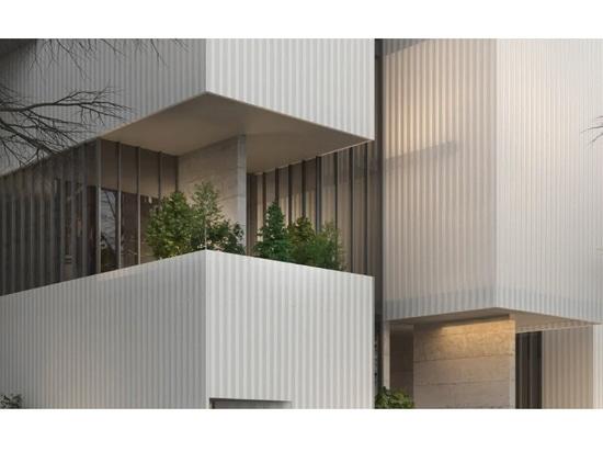 Los volúmenes translúcidos flotantes definen el complejo deportivo y de entretenimiento de Aroc Studio