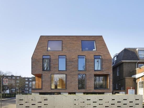 Los apartamentos de Peckham Rye de Tikari Works tienen tranquilos interiores de madera