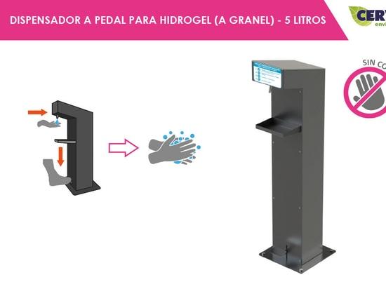 Dispensador a pedal para hidrogel a granel (hasta 5 litros)