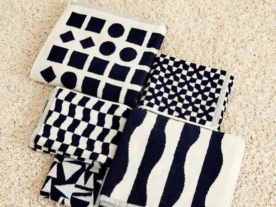 Dusen Dusen presenta su colección de toallas en blanco y negro