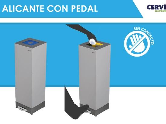 Papelera Alicante con pedal