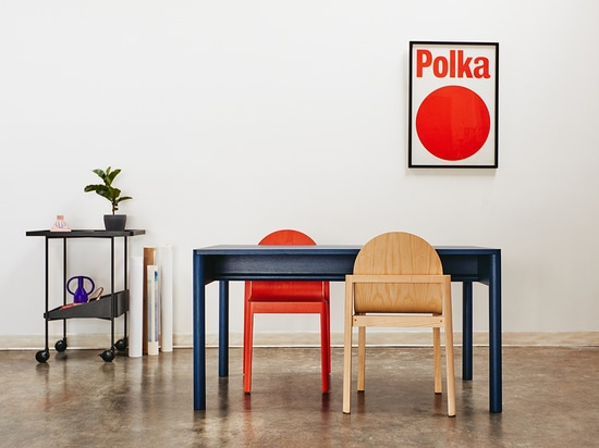 La silla Cleo de Stine Aas + Dims. Está inspirada en la costa noruega