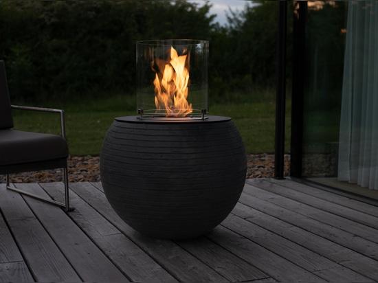 muenkel design Meda [chimenea de etanol para uso exterior]