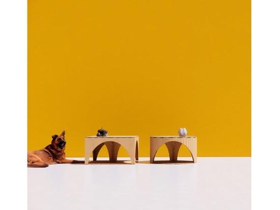 SODO - SOPA diseña un conjunto de muebles hechos completamente de cartón reciclado