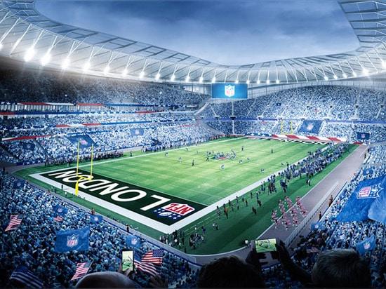 La echada completamente retractable del estadio revelará una segunda superficie que juega para los juegos de NFL.