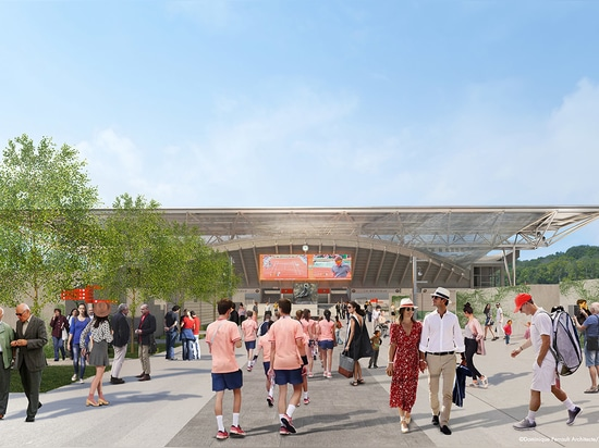 Dominique Perrault diseña un techo retráctil en la cancha de tenis Suzanne Lenglen en París
