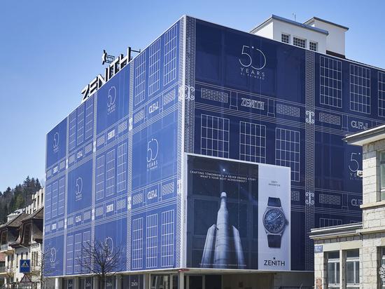Zénith llamó a LightAir para vestir su fachada (2019). Cortesía de LightAir.