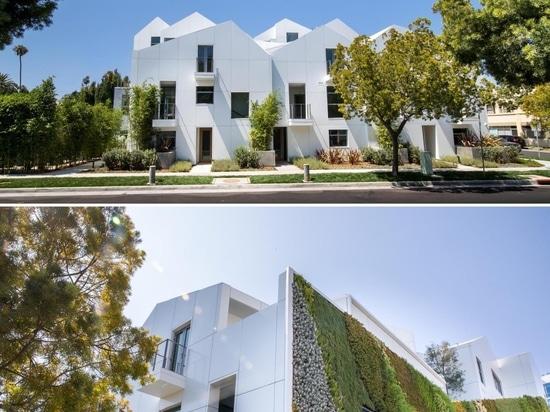 Este edificio de apartamentos fue diseñado para parecerse a un pueblo moderno de la ladera de la montaña