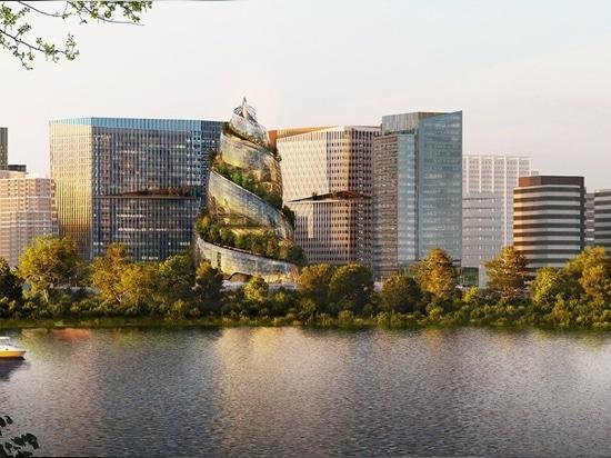 """Amazon presenta la """"hélice"""" diseñada por NBBJ como parte de su sede en Arlington, Virginia"""