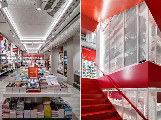 Arquitectos de Migliore + de Servetto, almacén del concepto de Mondadori, Milano, Italia