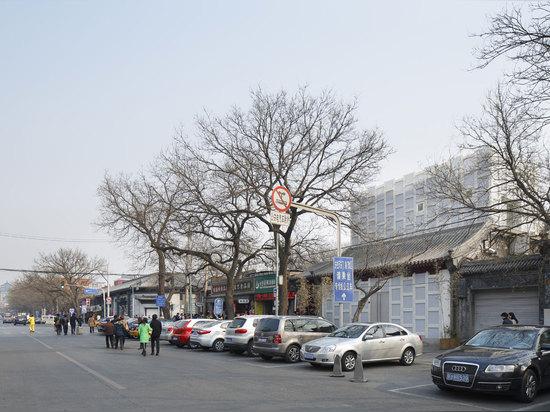 Kengo Kuma, casa de té de Pekín, Pekín, China