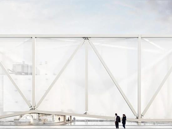vista lateral de la instalación