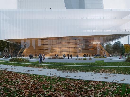 Snøhetta diseña el duett Düsseldorf, un nuevo teatro de ópera y centro cultural en el corazón de la ciudad