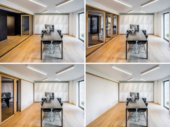 oficina/sala de conferencias con las puertas integradas del centor
