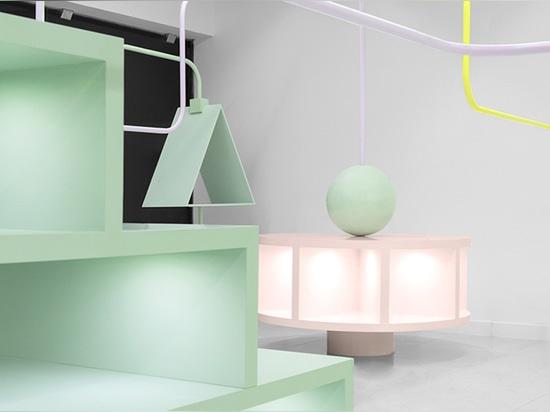 el laberinto didáctico es el concepto de la base de la realización de la tienda al por menor