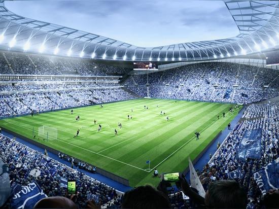 las características del diseño el solo soporte más grande del extremo de la grada del Reino Unido