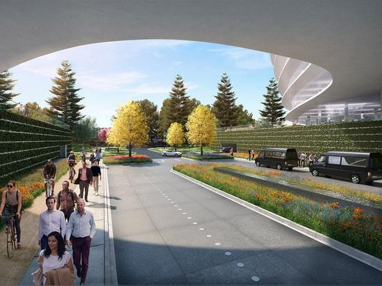 """El último campus de Silicon Valley de Apple podía ser """"oficina futurista de la tecnología"""" por HOK"""