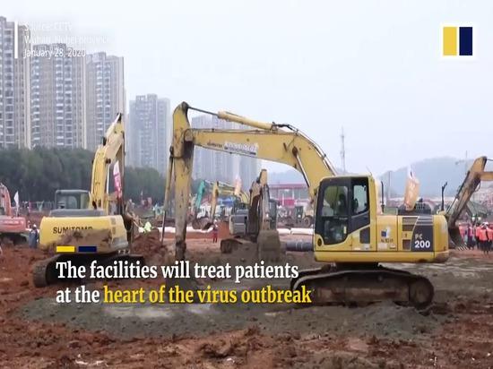 China está construyendo un hospital prefabricado de 1.000 camas en 10 días para cerrar el Coronavirus