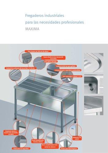 Gama Máxima: Fregaderos industriales