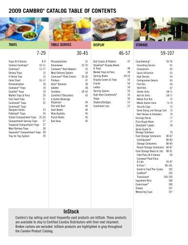2009 Cambro USA catalogue