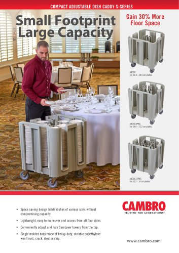 COMPACT ADJUSTABLE DISH CADDY S-SERIES