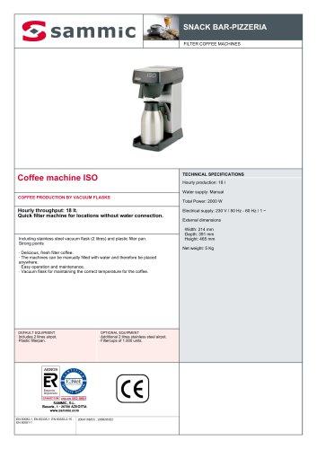 Coffee machine ISO
