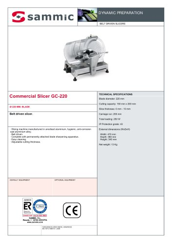Commercial Slicer GC-220