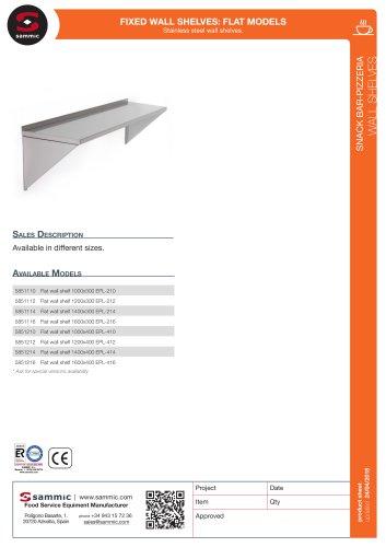 Fixed wall shelves: flat models