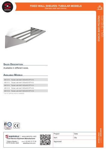 Fixed wall shelves: tubular models