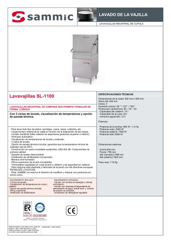 Lavavajillas SL-1100
