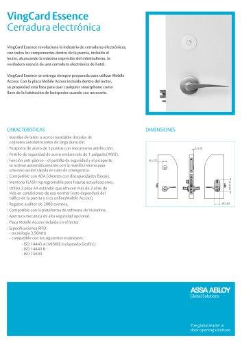 VingCard Essence Cerradura electrónica