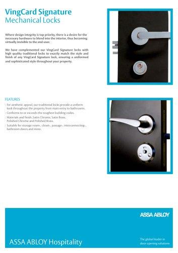 VingCard Signature Mechanical Locks