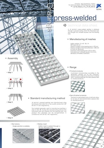 Press-welded gratings