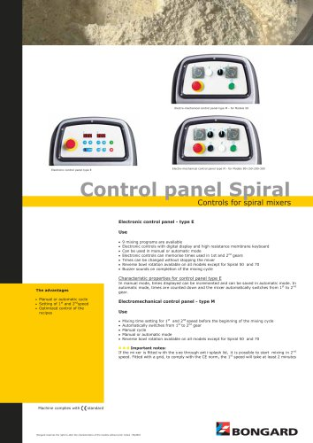 Control panel Spiral