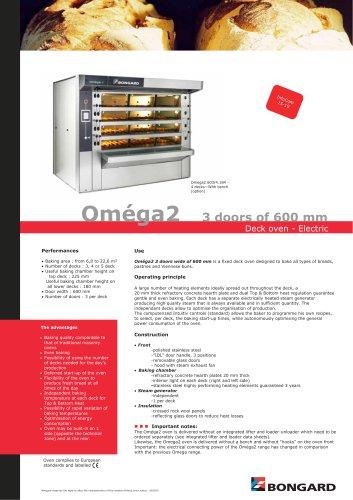 Oméga2 3 doors of 600 mm
