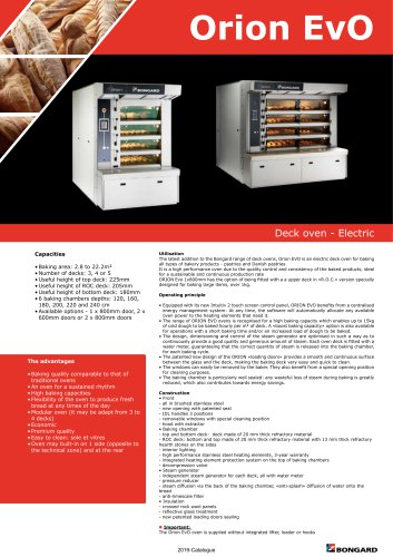 Orion EvO Deck oven - Electric